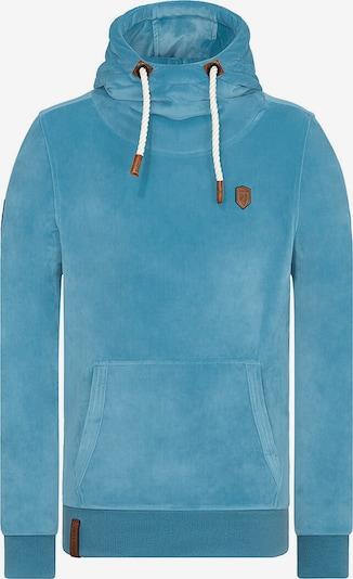 naketano Sweat-shirt 'Mack' en turquoise / marron / blanc, Vue avec produit