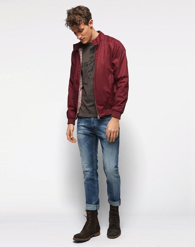 DIESEL Slim-Jeans mit Used-Details 'Thommer'