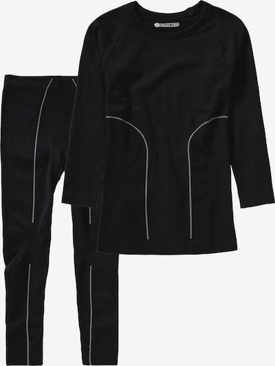 COLOR KIDS Skiunterwäsche 'Waldi' in schwarz / weiß, Produktansicht