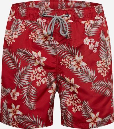 JACK & JONES Plavecké šortky 'JJIARUBA JJSWIMSHORTS AKM TROPIC STS' - červená, Produkt