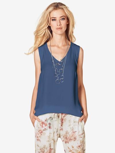 heine Blusenshirt in blue denim, Modelansicht