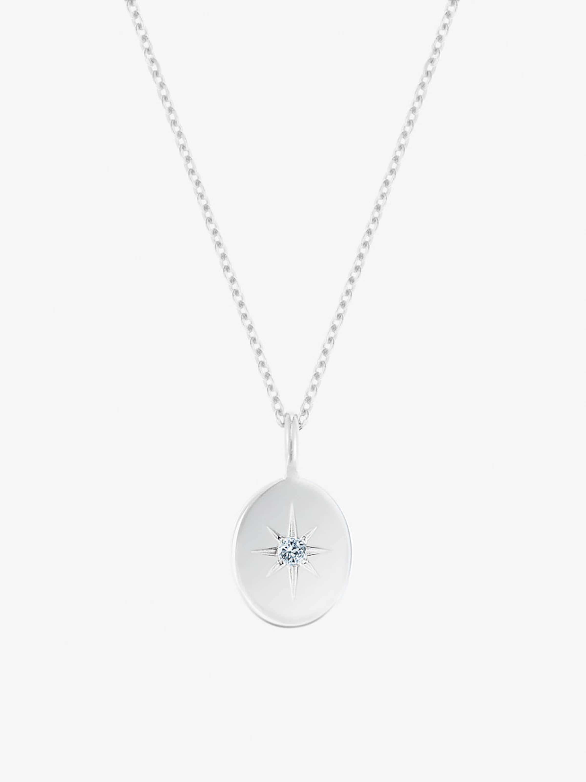 ID Fine Guiding Star Halskette in silber