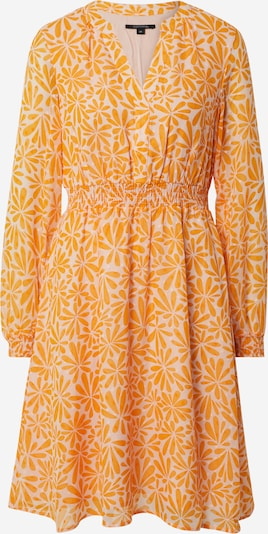 COMMA Kleid in orange / offwhite, Produktansicht
