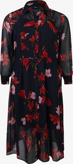 Zizzi Robe-chemise 'MSUDDA' en rouge / noir, Vue avec produit