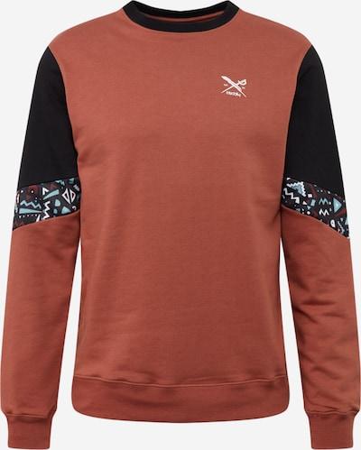Iriedaily Sweatshirt 'Ninetynine Crew ' in rostbraun / schwarz, Produktansicht