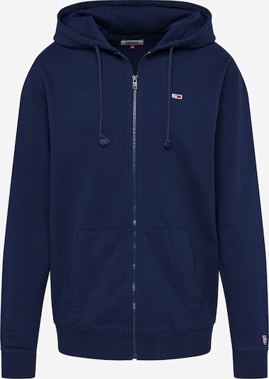 Tommy Jeans Sweatjacke 'ZIPTHRU' in nachtblau, Produktansicht