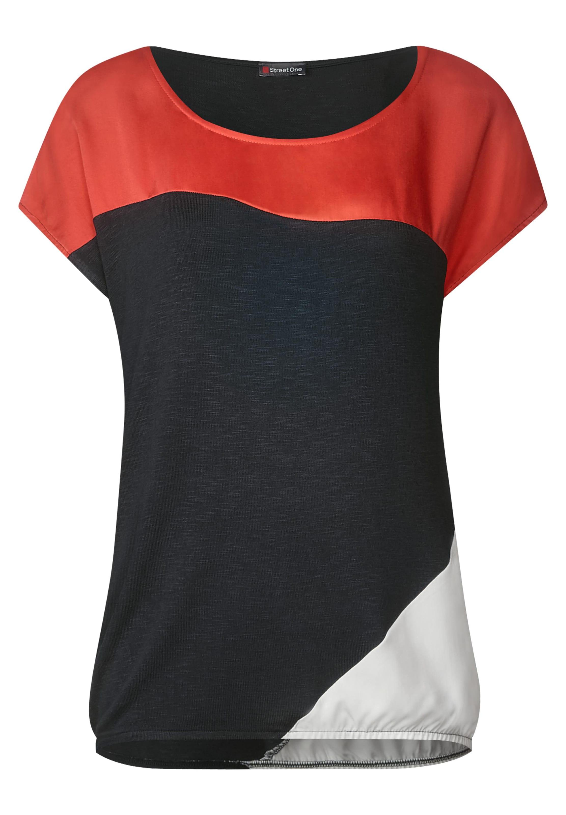In Street 'vianna' One Shirt Weiß HellrotSchwarz cARjL3S5q4