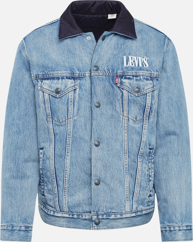 LEVI'S Jacke 'REVERSIBLE PADDED TRUCKER' in blue denim, Produktansicht