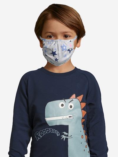 Sanetta Kidswear Stoffmasken 2er Pack in hellgrau: Frontalansicht