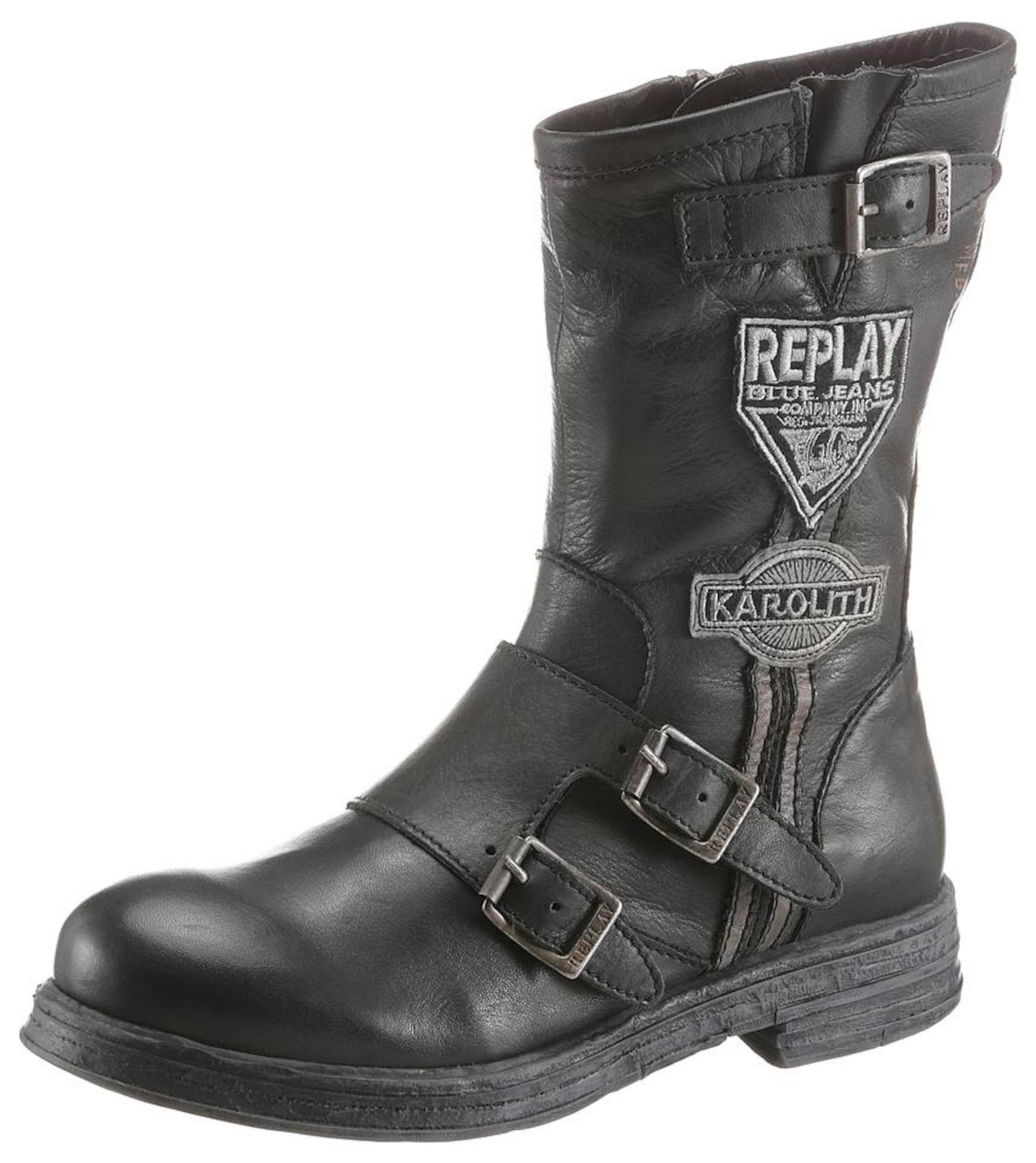 REPLAY Bikerboots Shelby Verschleißfeste billige Schuhe