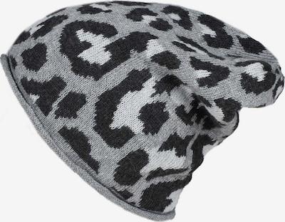 Zwillingsherz Mütze 'Leo' in grau / schwarz / weiß, Produktansicht
