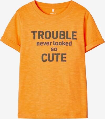 NAME IT T-Shirt in dunkelgrau / orange / pink, Produktansicht