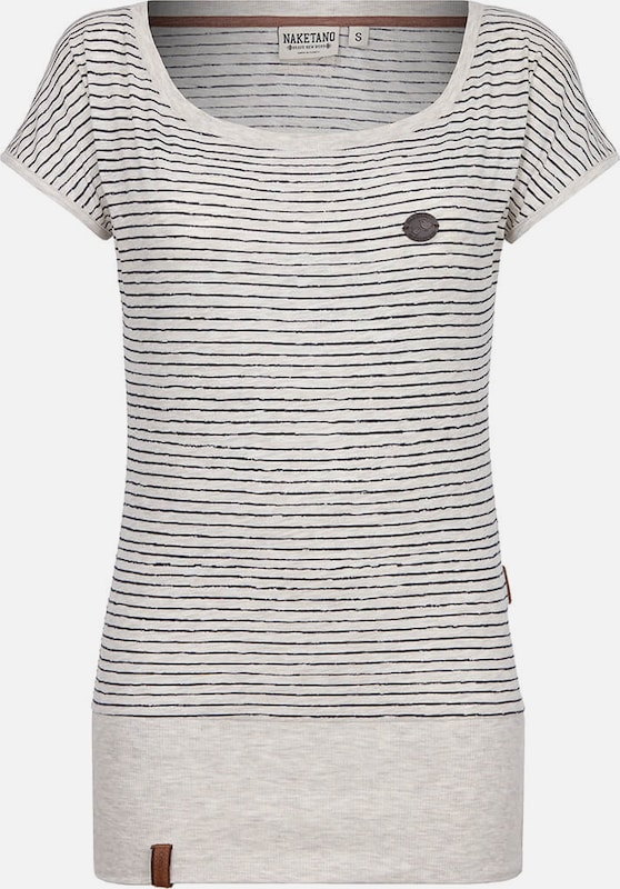 Naketano En Dizzy' Cassé T shirt 'wolle NoirBlanc 6gbf7y