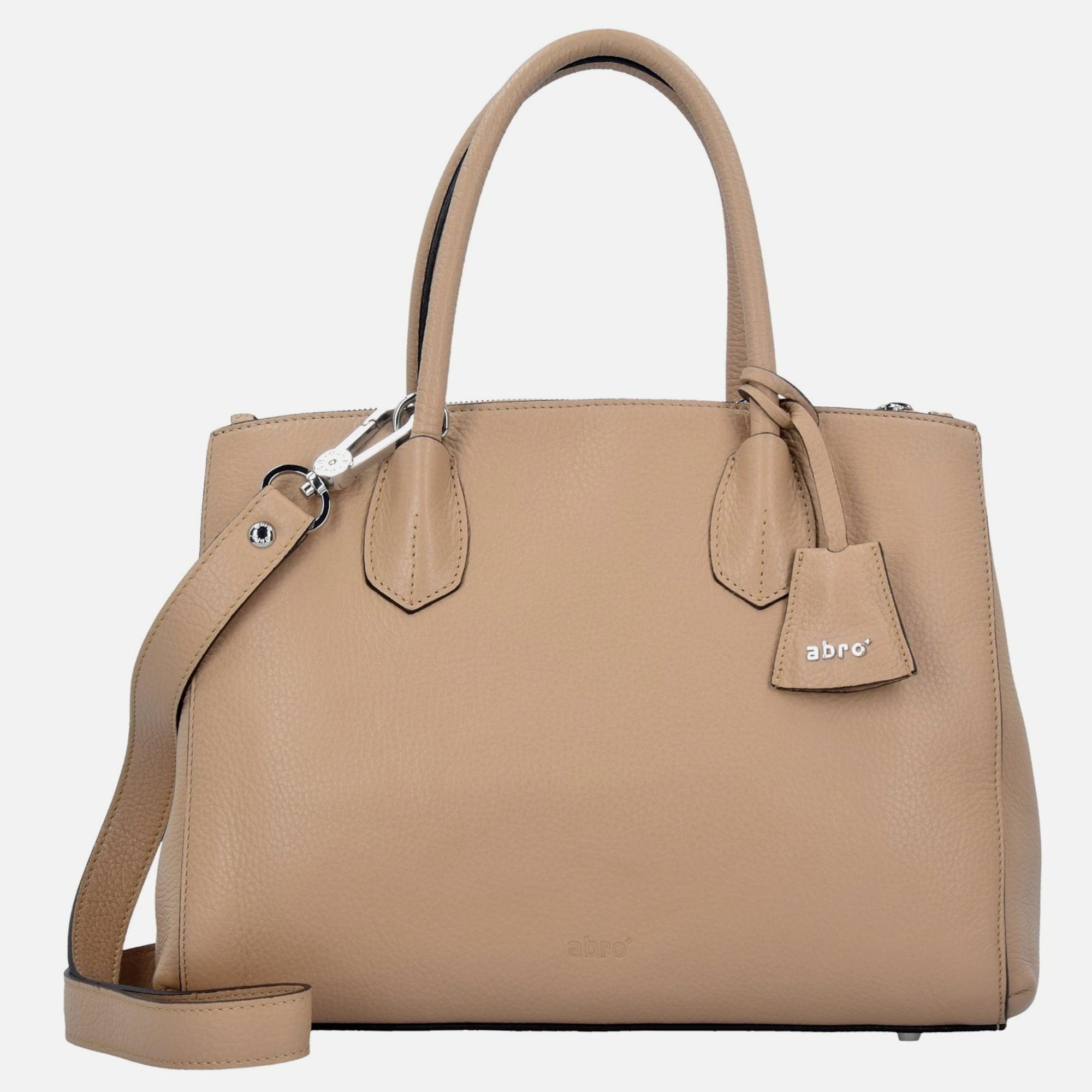 abro adria ii handtasche leder 32 cm in beige about you. Black Bedroom Furniture Sets. Home Design Ideas