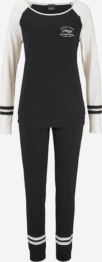 ARIZONA Pyjama in ecru / schwarz, Produktansicht