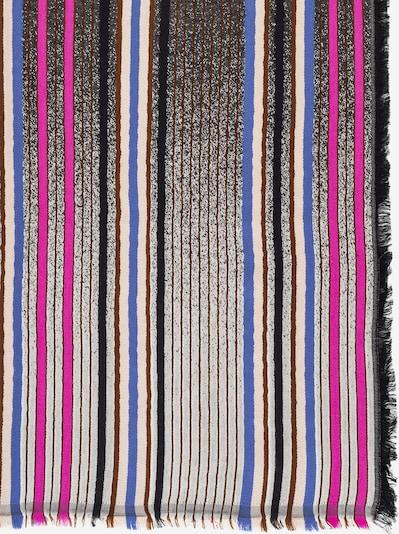 APART Schal mit Streifen und Fransensaum in braun / pink / schwarz, Produktansicht