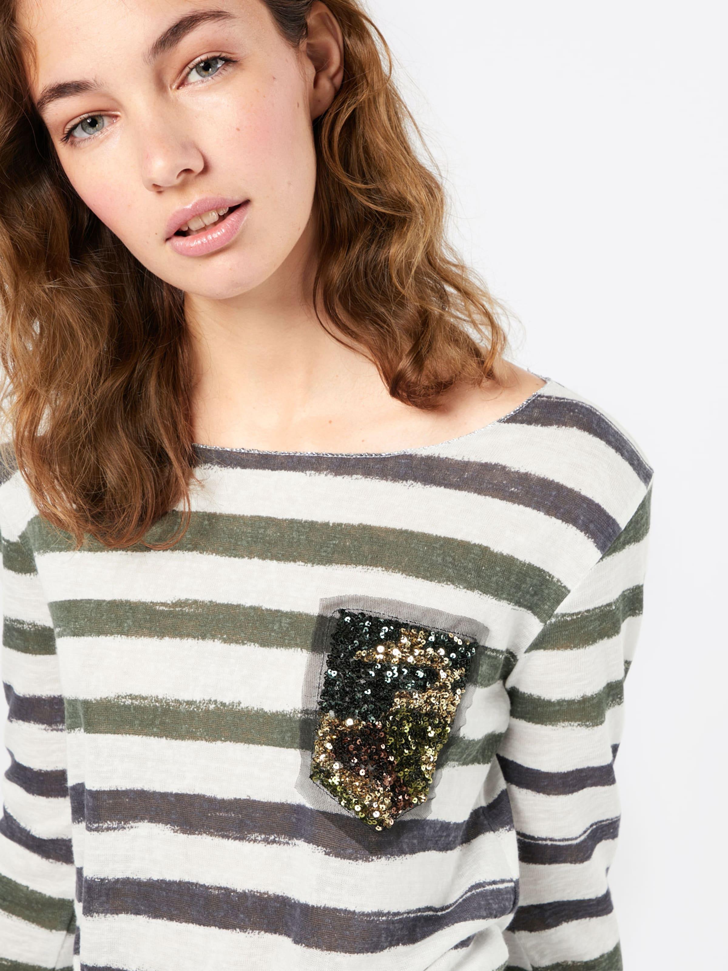 Key Largo Streifen Shirt 'WLS JESSY round' Online Shop Günstig Kaufen Billig Steckdose Modische Günstig Kaufen Spielraum 1K8nJuV
