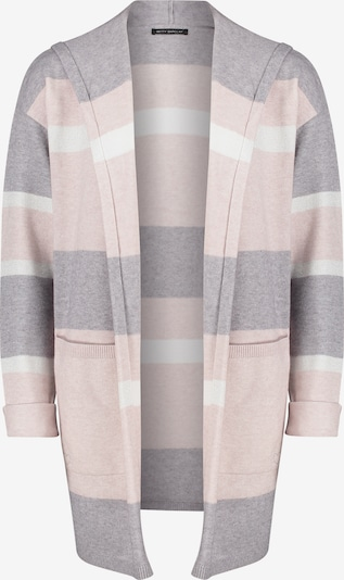 Betty Barclay Strickjacke in grau / rosa / weiß, Produktansicht