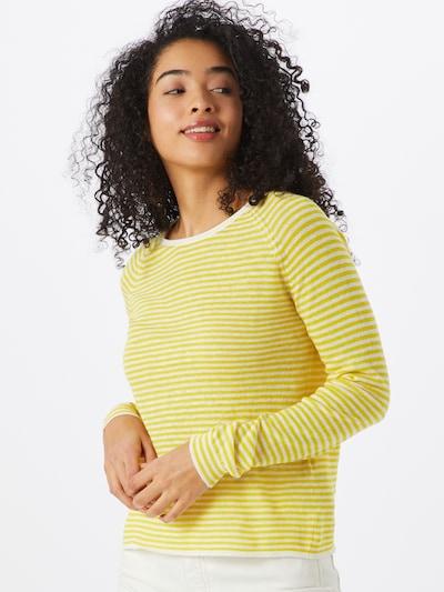 SELECTED FEMME Pullover 'FASTRID' in gelb / weiß, Modelansicht