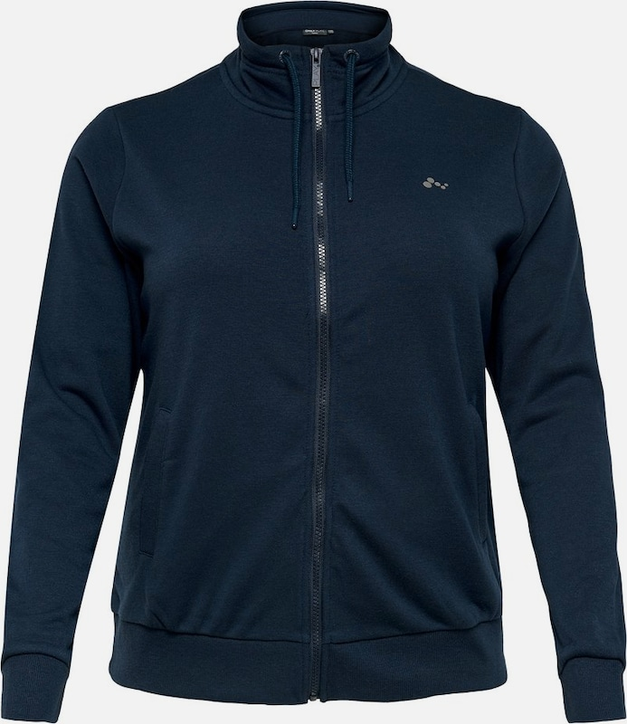 Only Play Curvy Sweatjacke in navy, Produktansicht