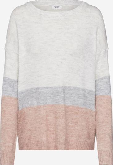 JACQUELINE de YONG Pullover 'TEA' in grau / rosa, Produktansicht