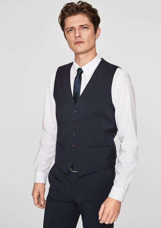 s.Oliver BLACK LABEL Elegante Anzugweste aus Schurwolle