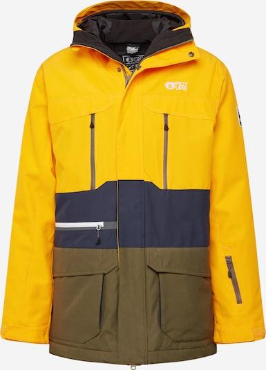 Picture Organic Clothing Outdoorjas in de kleur Donkerblauw / Goudgeel / Olijfgroen, Productweergave