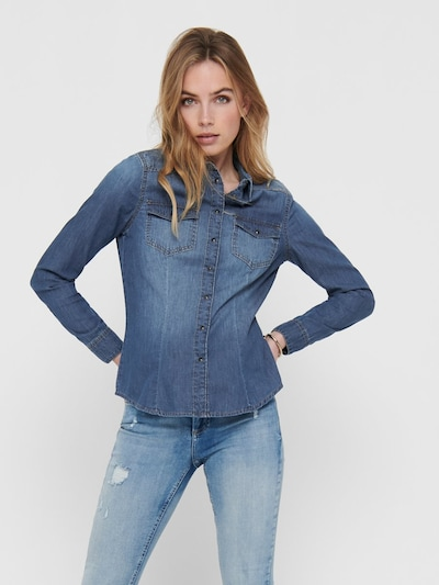 ONLY Jeanshemd in blue denim, Modelansicht