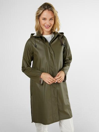 ILSE JACOBSEN Between-Seasons Coat in Olive, View model