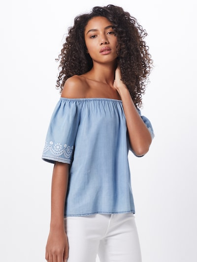 ABOUT YOU Bluse 'Antonie' in blue denim: Frontalansicht