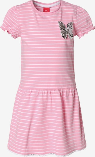 s.Oliver Junior Kleid in pink / weiß, Produktansicht