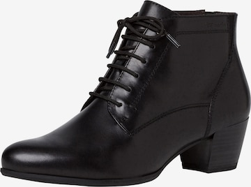 TAMARIS Lace-Up Ankle Boots in Black