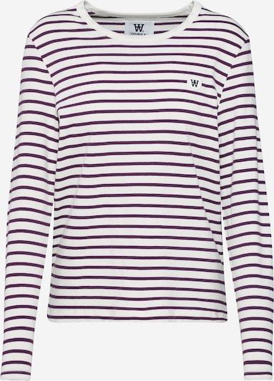 WOOD WOOD Shirt 'Moa' in lila / weiß, Produktansicht