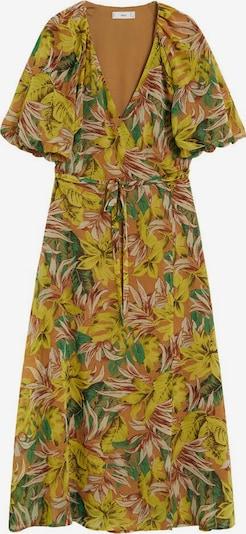 MANGO Sommerkleid in beige / senf / grün / orange, Produktansicht