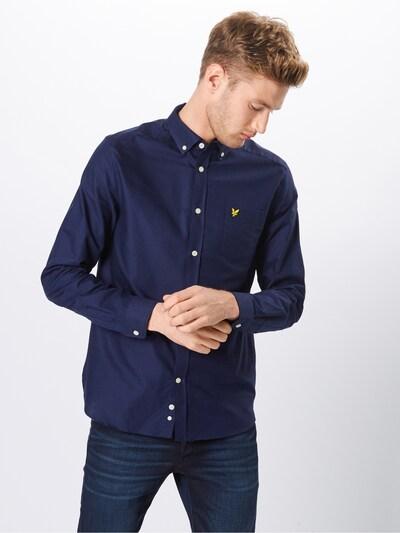 Lyle & Scott Chemise 'Oxford Shirt' en bleu marine: Vue de face