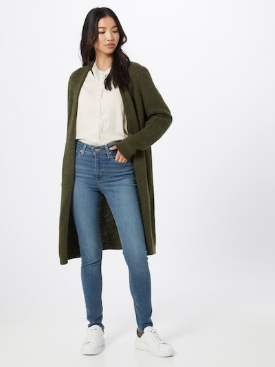 ONLY Strickjacke 'Jade' in khaki, Modelansicht