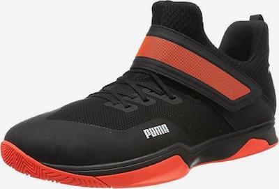 PUMA Handballschuh 'Rise' in orangerot / schwarz, Produktansicht