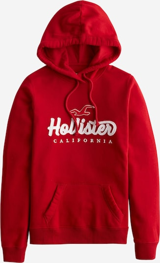 HOLLISTER Sweatshirt in rot / weiß, Produktansicht