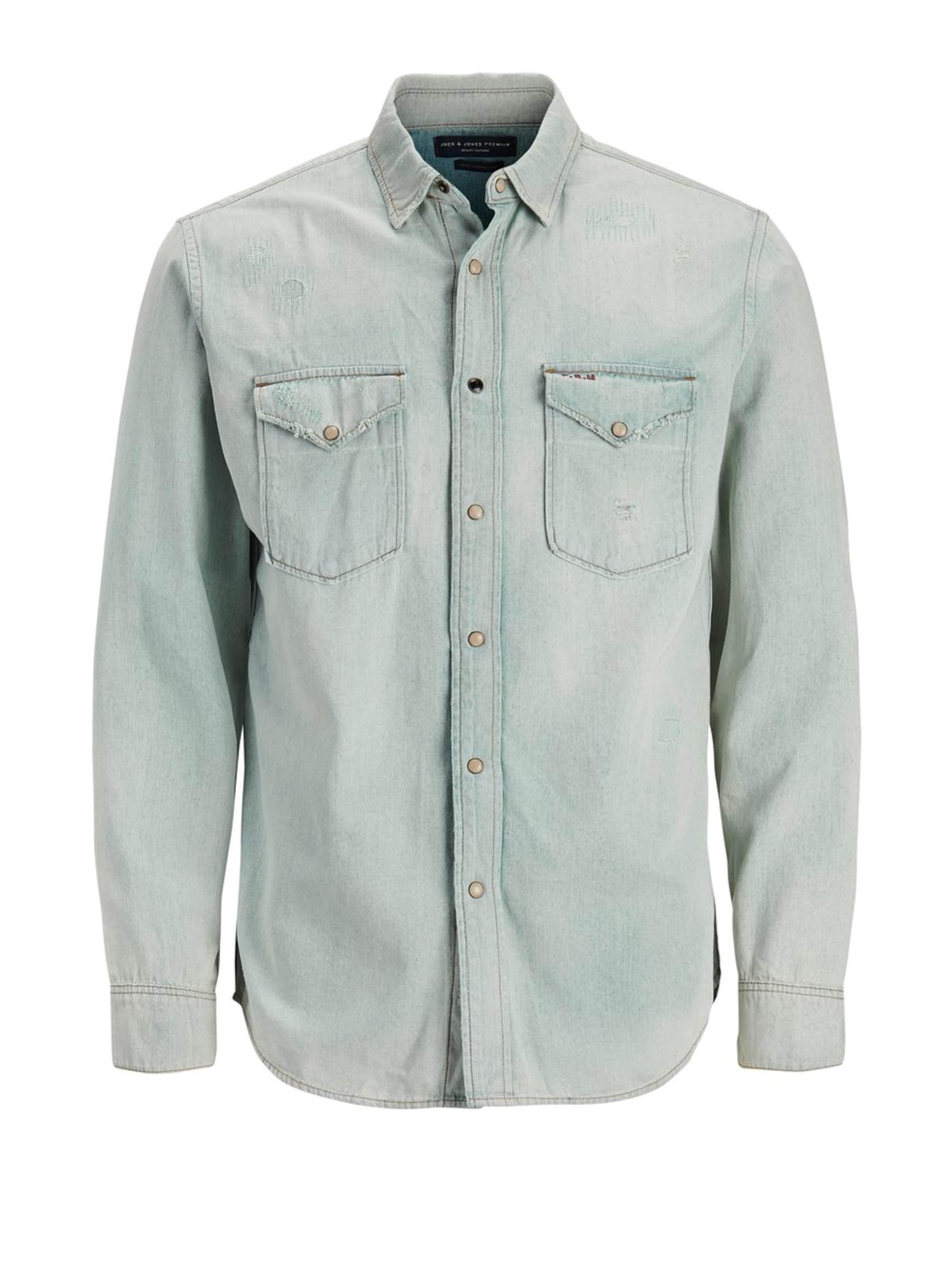 Jackamp; Pastellgrün Westernstyle Jeanshemd Jones In 9WHYbEeDI2