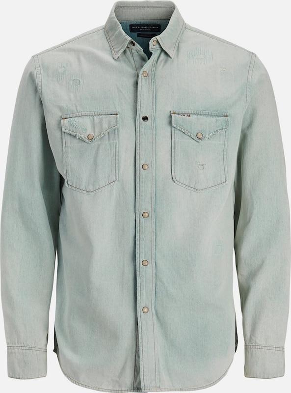 JACK & JONES Westernstyle Jeanshemd in pastellgrün  Große Preissenkung
