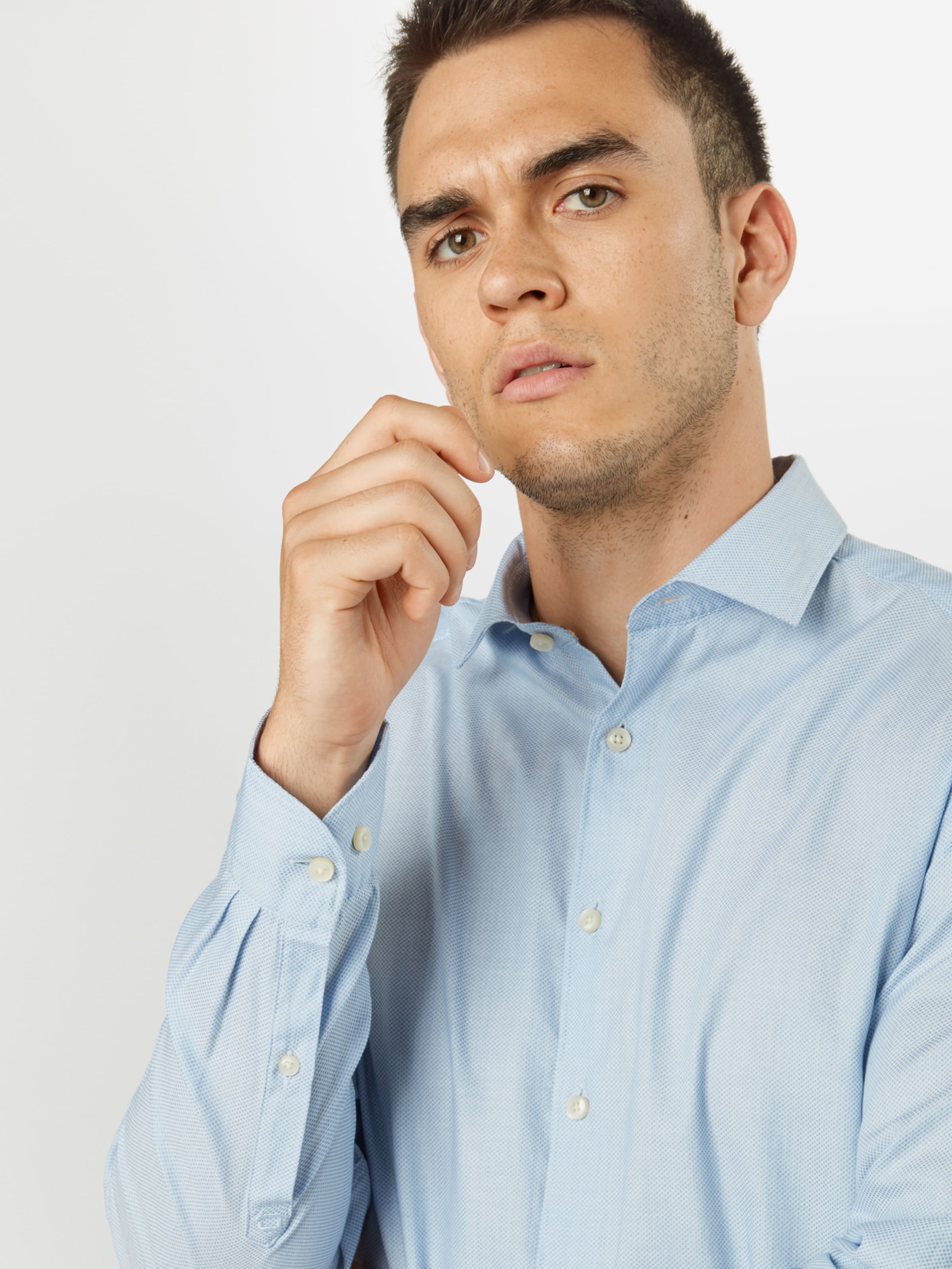 OLYMP Businessskjorta i ljusblå