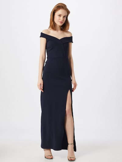 Missguided Kleid 'BARDOT' in dunkelblau, Modelansicht