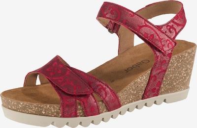 GABOR Sandalen in rot, Produktansicht
