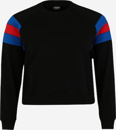 Urban Classics Sweat-shirt en bleu / rouge / noir: Vue de face