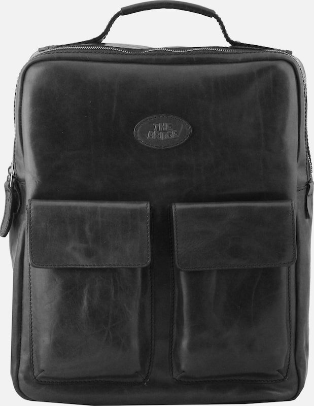 The Bridge Sfoderata Luxe Uomo Rucksack Leder 38 cm Laptopfach