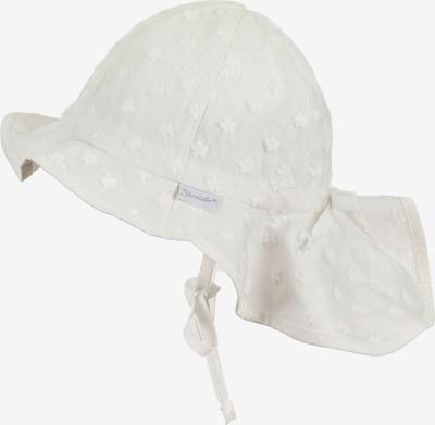STERNTALER Chapeau 'Flapper' en blanc naturel, Vue avec produit