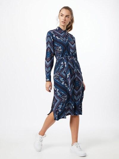 ESPRIT Kleid in blau / navy / rot / weiß, Modelansicht