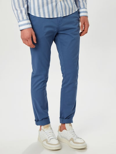 Pantaloni eleganți TOM TAILOR DENIM pe albastru, Vizualizare model