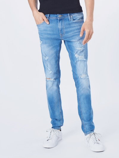 JACK & JONES Jeans 'LIAM ' in blue denim, Modelansicht
