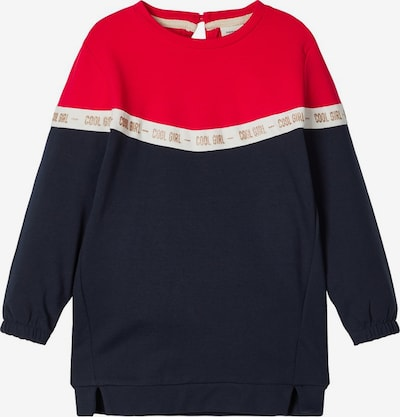 NAME IT Sweatshirt 'Bosynne' in navy / gold / weiß, Produktansicht